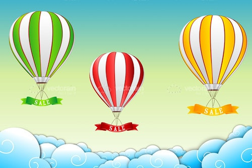 Hot Air Balloons with sale tag